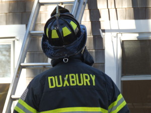 Duxbury Fire Department training at St. Margaret's Chapel