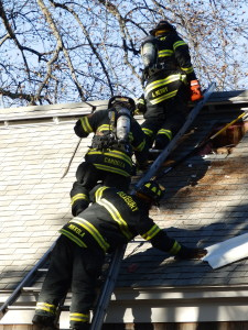 Duxbury Fire Department training at St. Margaret's Chapel
