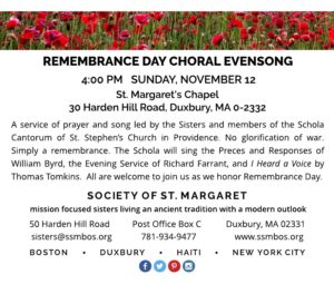 SSM Remembrance Day Evensong