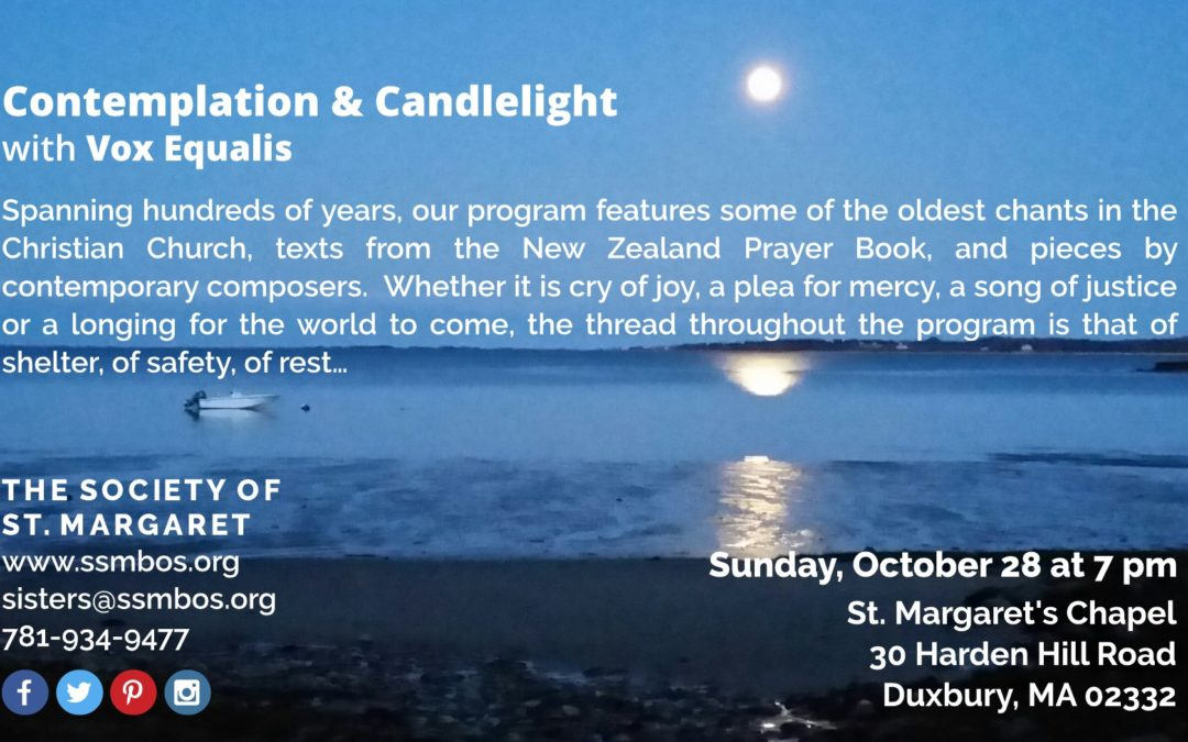 Contemplation & Candlelight with Vox Equalis Oct. 28th, 2018