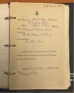 Harriet Bedell, Associate with the Sisters of St. Margaret